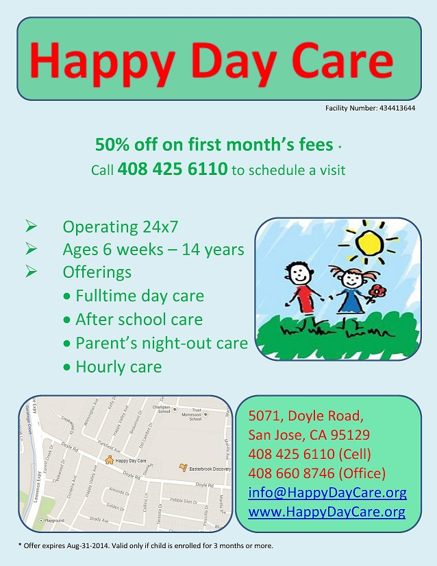 Home Daycare Flyers  SaveBtsaCo