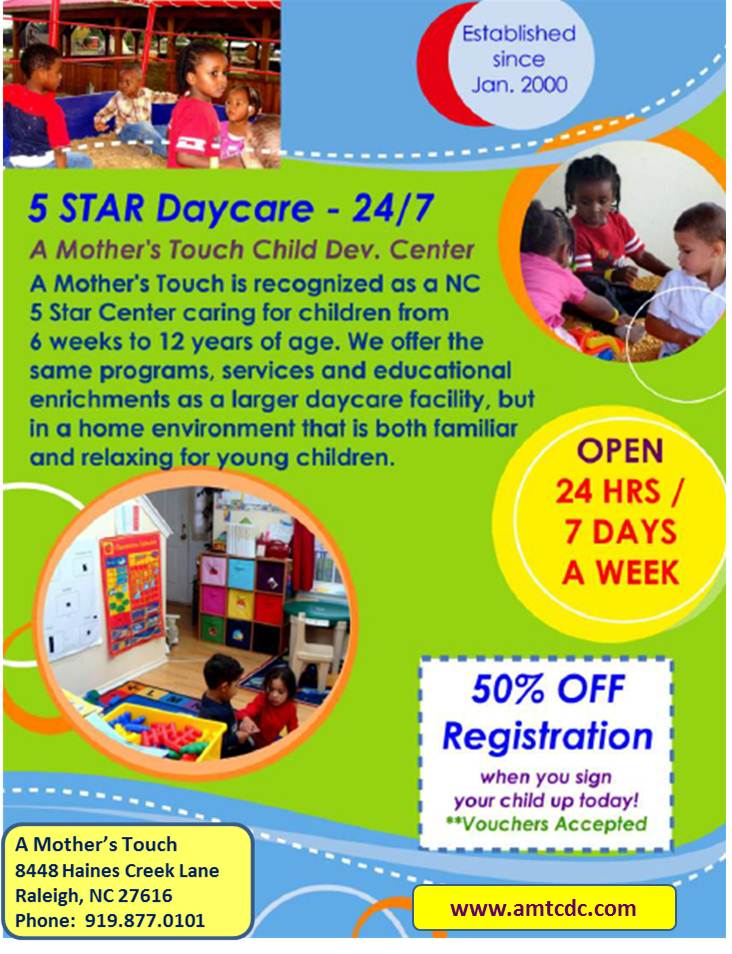 A Mother\u0027s Touch Child Development Center, Inc RALEIGH NC