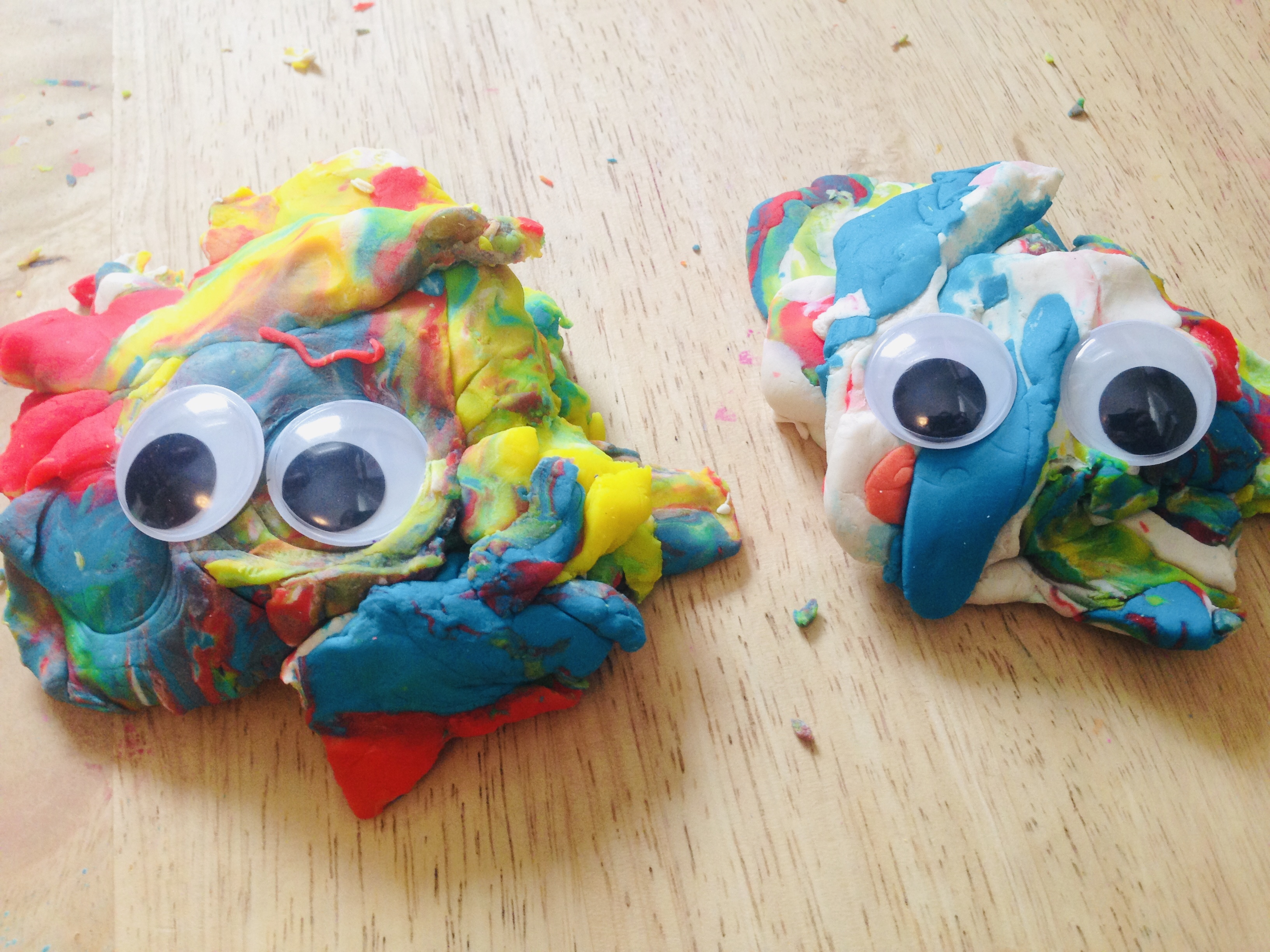 Play-Doh creatures