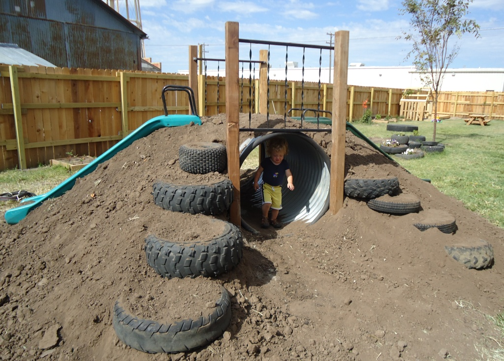 Backyard Hill Slide : Lets Play! on Pinterest  Old Tires, Hopscotch and Climbing