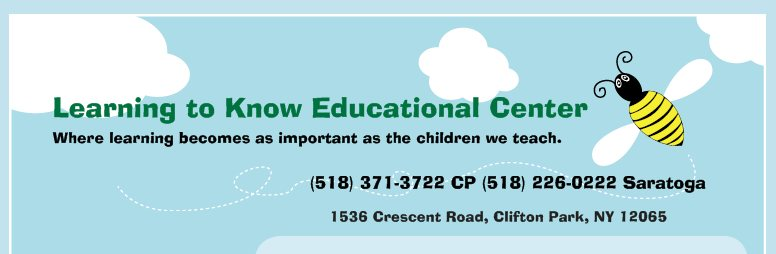 Learning to Know Educational Center , Saratoga