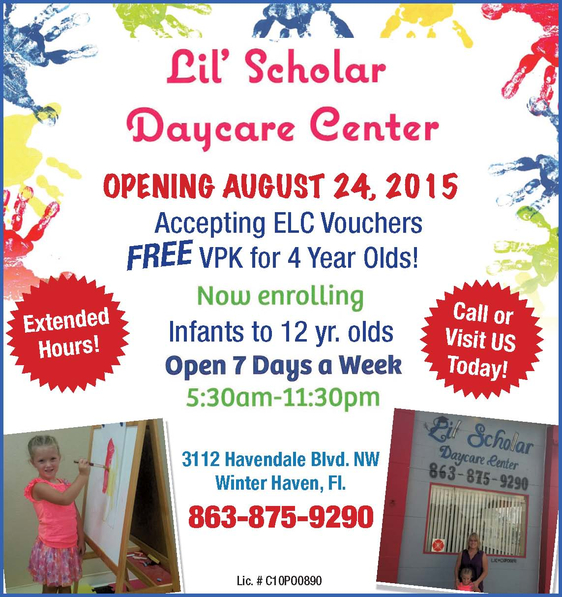 Lil Scholar Daycare Center Winter Haven FL Child Care Facility