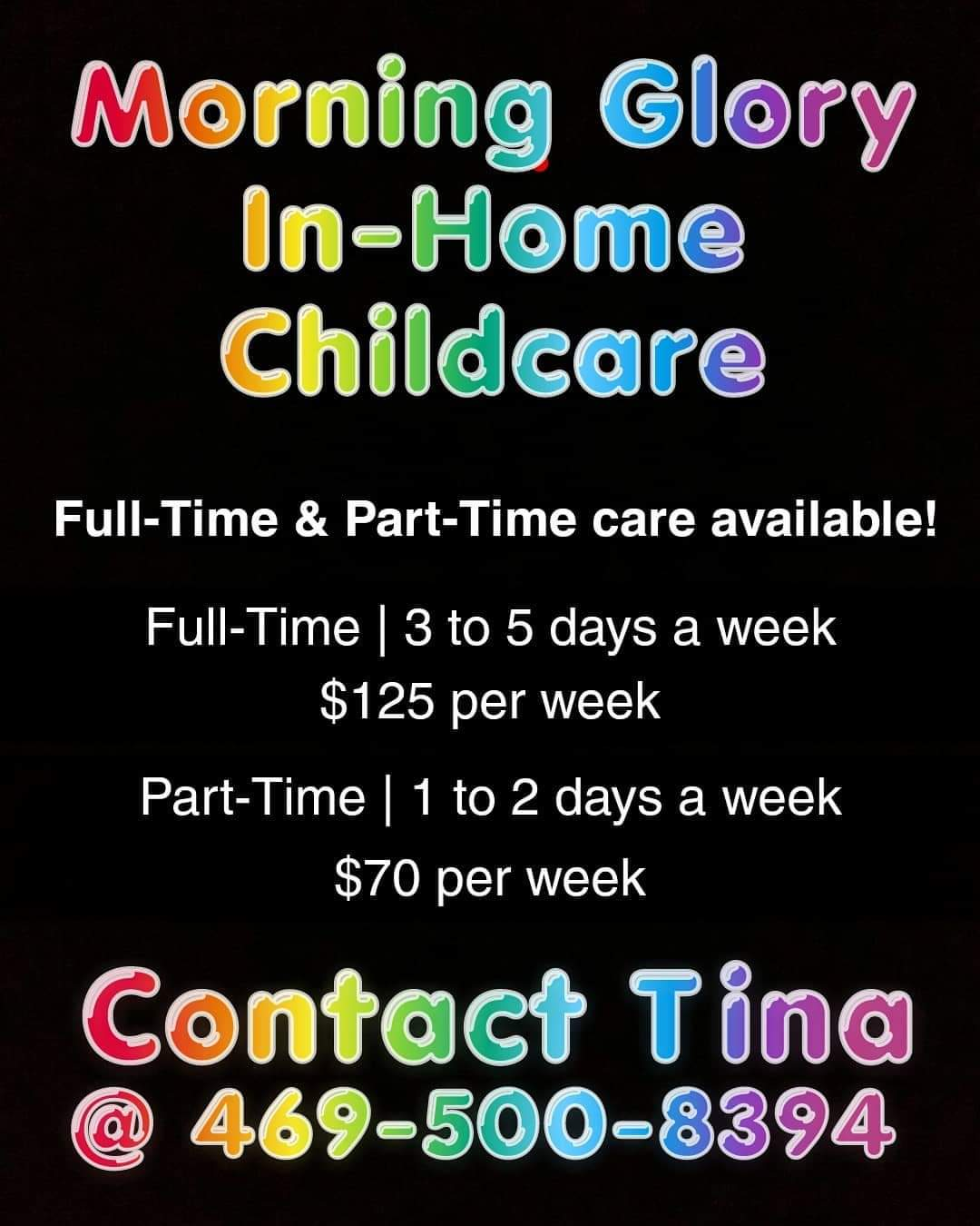 Morning Glory In-Home Childcare